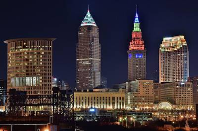 Photograph - Towers Tower Over Cleveland by Frozen in Time Fine Art Photography