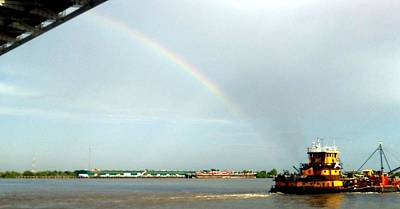 Photograph - Towing A Rainbow Along The Mississippi River In New Orleans by Michael Hoard