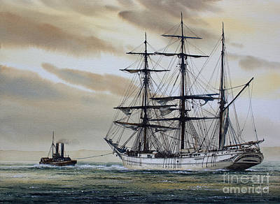 Towing Out To Sea Art Print by James Williamson
