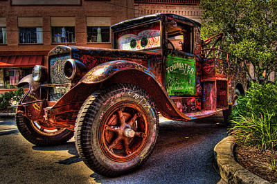 Antique Tow-truck Photograph - Towmater by Andrew Armstrong  -  Mad Lab Images