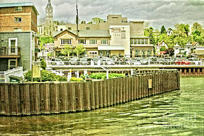 Politicians Royalty-Free and Rights-Managed Images - Town at the Edge of the Lake by Mary Machare
