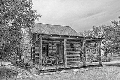 Town Creek Log Cabin Art Print