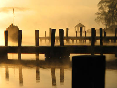 Sunrise Greetings Photograph - Town Docks by Michael Mooney