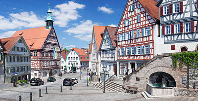 Rem Photograph - Town Hall At Market Square, Backnang by Panoramic Images