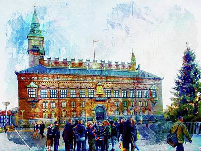 Photograph - Town Hall Copenhagen by Dorothy Berry-Lound