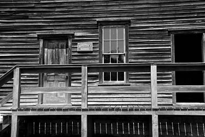 Photograph - Town Hall Fayette State Park 2 Bw by Mary Bedy