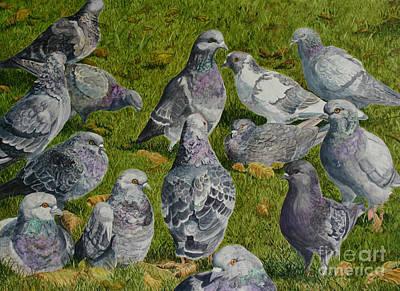 Town Hall Meeting Art Print by Helen Shideler