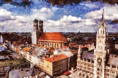 Photograph - Town Hall. Munich by Sergey Simanovsky