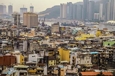 Town In Macau Art Print