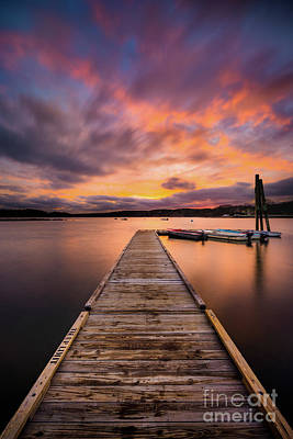 Photograph - Town Landing Sunset by Benjamin Williamson