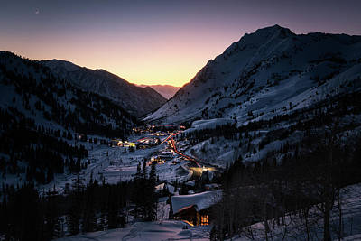 Little Cabin Photograph - Town Of Alta At Dusk by James Udall