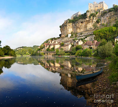 Photograph - Town Of Beynac-et-cazenac Alongside Dordogne River by IPics Photography