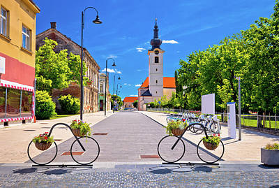 Photograph - Town Of Bicycles Koprivnica Street View by Brch Photography