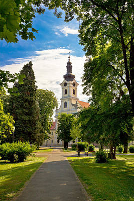 Photograph - Town Of Bjelovar Park And Church by Brch Photography