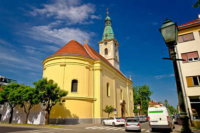Photograph - Town Of Bjelovar Square And Church by Brch Photography