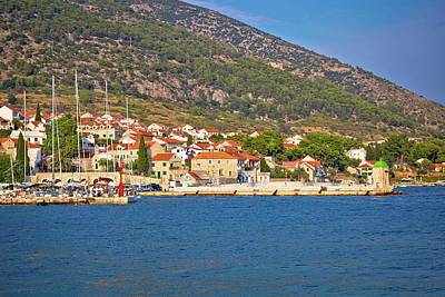 Photograph - Town Of Bol Coast And Architecture View by Brch Photography