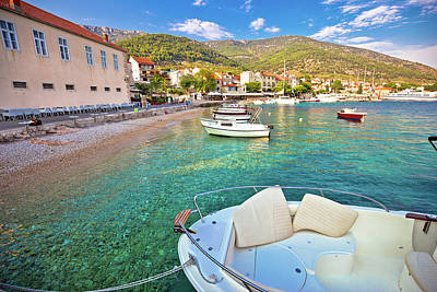 Photograph - Town Of Bol On Brac Island Turquoise Seafront View by Brch Photography