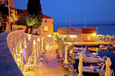 Photograph - Town Of Bol On Brac Island Waterfront At Evening View by Brch Photography