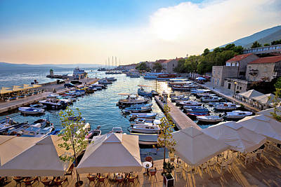 Photograph - Town Of Bol On Brac Island Waterfront View At Sunset by Brch Photography