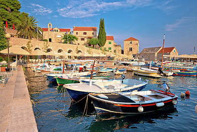 Photograph - Town Of Bol On Brac Island Waterfront View by Brch Photography