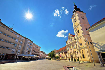 Photograph - Town Of Cakovec Main Square And Church View by Brch Photography