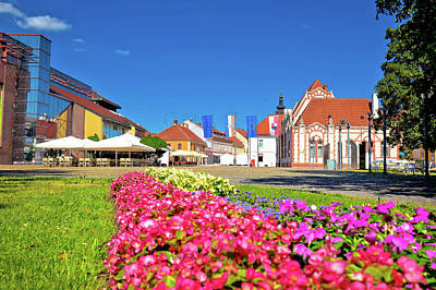 Photograph - Town Of Cakovec Main Square View by Brch Photography