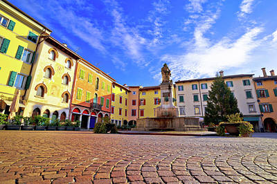 Photograph - Town Of Cividale Del Friuli Colorful Italian Square View by Brch Photography