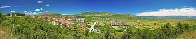 Photograph - Town Of Drnis And Dalmatian Inland Panorama by Brch Photography