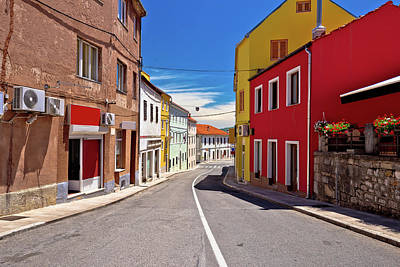 Photograph - Town Of Drnis Colorful Street View by Brch Photography