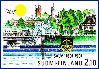 Town Of IIsalmi Art Print