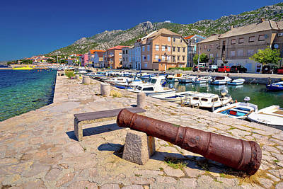 Photograph - Town Of Karlobag In Velebit Channel Panoramic View by Brch Photography