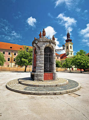 Photograph - Town Of Karlovac Central Square View by Brch Photography