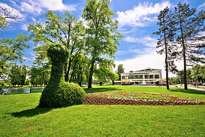 Photograph - Town Of Karlovac Green Park And Landscape by Brch Photography