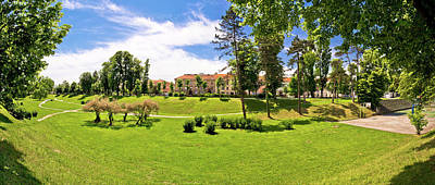 Photograph - Town Of Karlovac Park Panoramic View by Brch Photography
