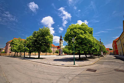 Photograph - Town Of Karlovac Square Architecture And Nature by Brch Photography