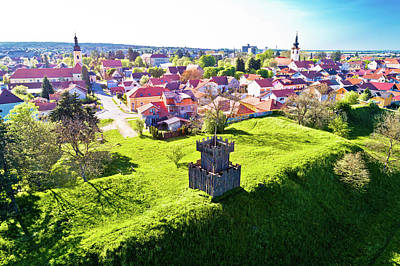 Photograph - Town Of Koprivnica Landmarks And Trenches Aerial View by Brch Photography