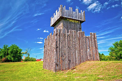 Photograph - Town Of Koprivnica Wooden Tower On Trenches View by Brch Photography