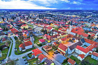 Photograph - Town Of Krizevci Aerial Panoramic View by Brch Photography
