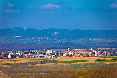 Photograph - Town Of Krizevci And Kalnik Mountain by Brch Photography