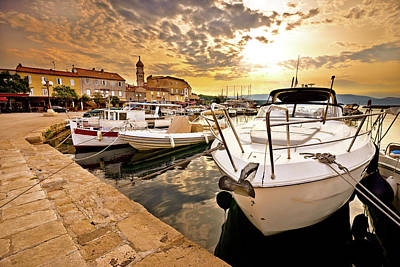 Photograph - Town Of Krk Golden Morning View by Brch Photography