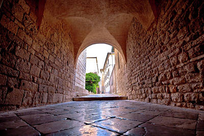 Photograph - Town Of Krk Historic Stone Steet Passage View, by Brch Photography