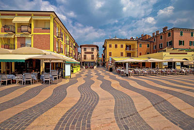 Photograph - Town Of Lazise Streetscape View by Brch Photography