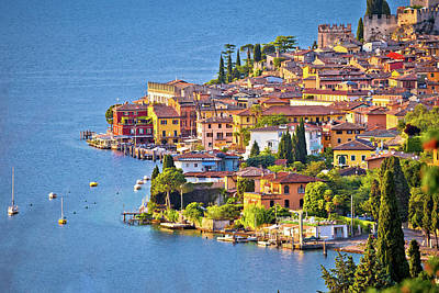 Photograph - Town Of Malcesine On Lago Di Garda Watefront View by Brch Photography