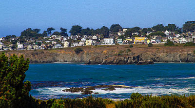 Photograph - Town Of Mendocino by Bonnie Follett