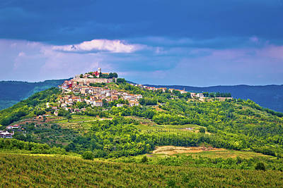 Photograph - Town Of Motovun On Picturesque Hill by Brch Photography