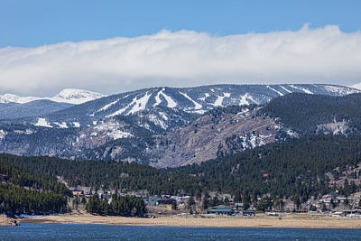 Photograph - Town Of Nederland Colorado And Eldora Ski Slopes by James BO Insogna