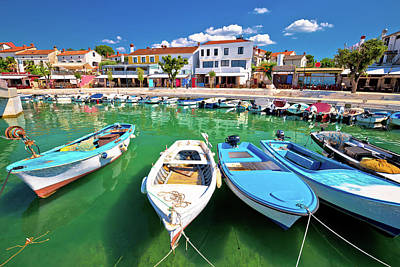 Olympic Sports - Town of Njivice turquoise harbor and waterfront view by Brch Photography