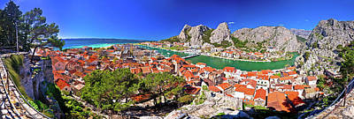 Photograph - Town Of Omis And Cetina River Mouth Panoramic View by Brch Photography