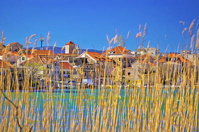 Photograph - Town Of Omis View Through Sedge On Cetina River by Brch Photography