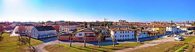 Photograph - Town Of Palmanova Skyline Panoramic View From City Defense Walls by Brch Photography